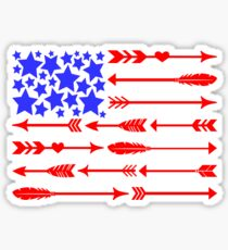 Tribal Arrows American Flag Sticker