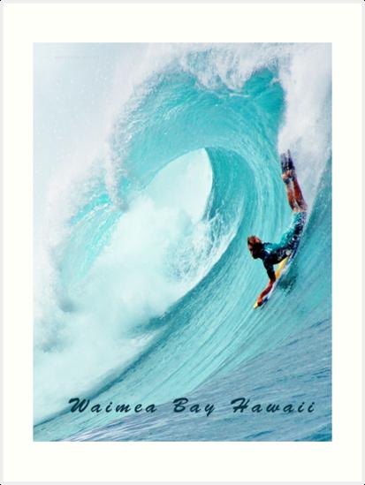 Waimea Big Wave Boogie T-Shirt by kevin smith  skystudiohawaii