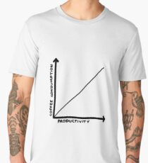 Coffee Consumption = Productivity Graph Men's Premium T-Shirt