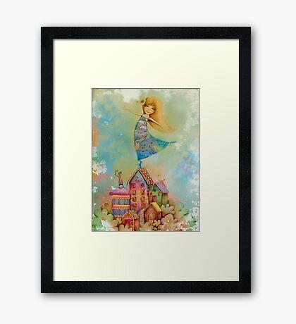 dancing on rooftops Framed Print