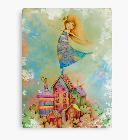 dancing on rooftops Canvas Print