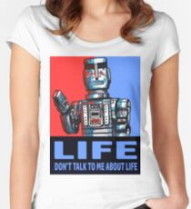 MARVIN THE PARANOID ANDROID - HITCHHIKERS GUIDE TO THE GALAXY Women's Fitted Scoop T-Shirt