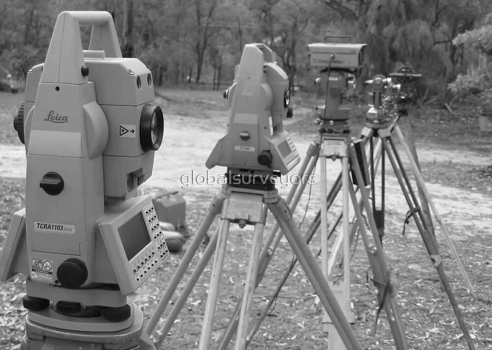 History of Theodolites B & W by globalsurveyors