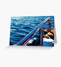 Boat Handrail Greeting Card