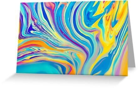 rainbow swirl by Ingrid Beddoes