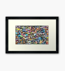 CSGO Sticker Collage Framed Print