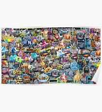 CSGO Sticker Collage Poster