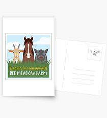 Love Me, Love My Animals! Postcards