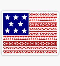 Aztec American Flag Sticker
