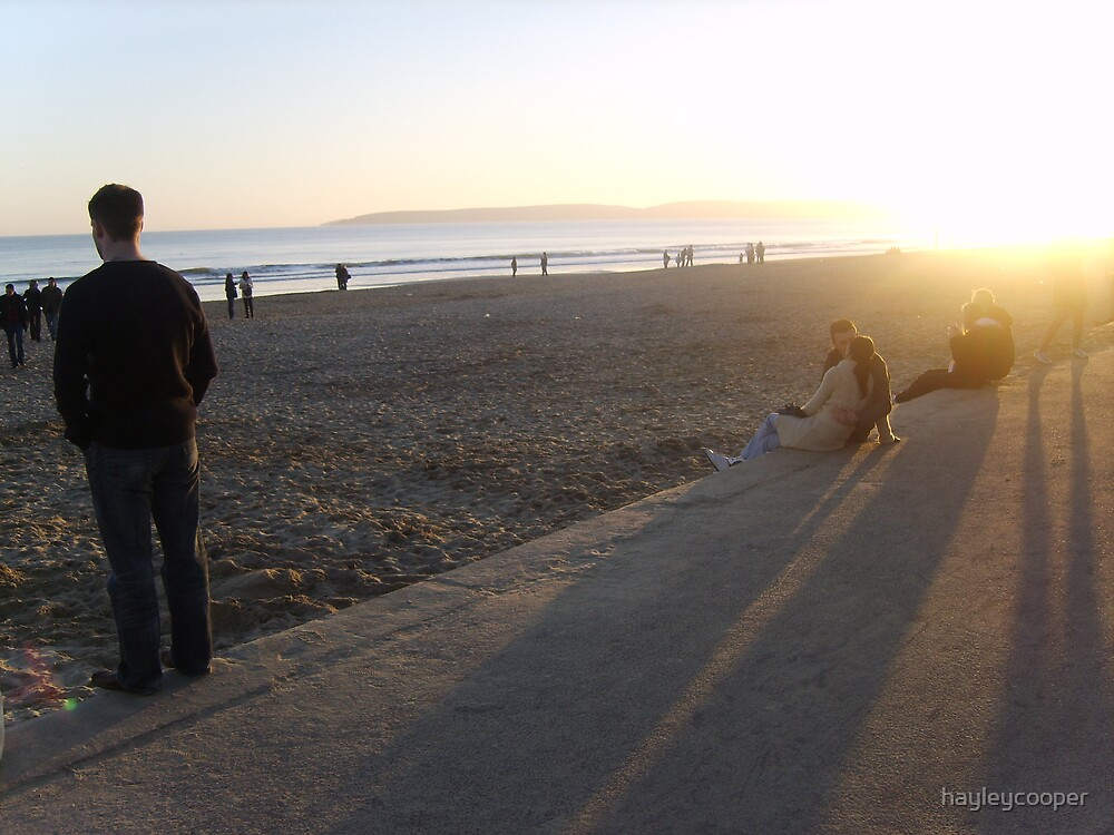 Bournemouth beach scene by hayleycooper