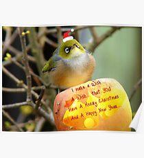 I Make A Wish... - Silver-Eye - NZ Poster