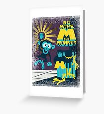 No more M for Monkey - Dexter's Laboratory - color b Greeting Card