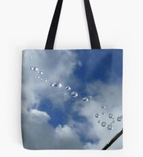 Sparkling Bubbles In The Sky - Raindrops on Web - NZ Tote Bag