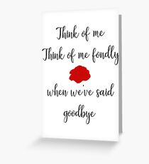 Think Of Me Greeting Card