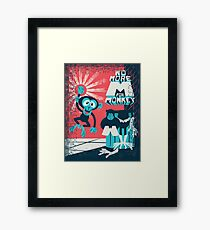 No more M for Monkey - Dexter's Laboratory Framed Print