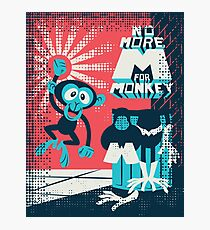 No more M for Monkey - Dexter's Laboratory Photographic Print