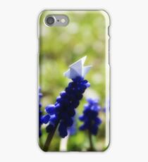 Blue Pigeon - Origami Pigeon iPhone Case/Skin