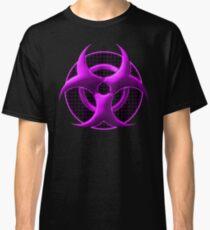 Purple Biohazard Symbol Classic T-Shirt