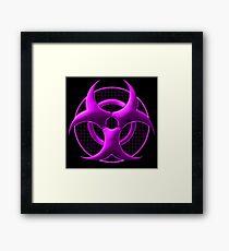 Purple Biohazard Symbol Framed Print