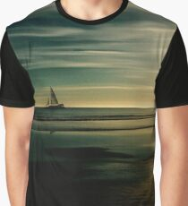 Low Tide Sunset at Butterfly Beach Graphic T-Shirt