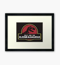 Billy and the Cloneasaurus Framed Print