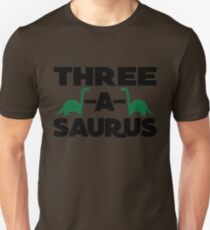 Three A Sauras Three year old birthday T-shirt Unisex T-Shirt