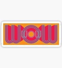 WOW Retro Word Art Sticker