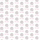 Retro flower - pink and grey - floral pattern by Cecca Designs by Cecca-Designs