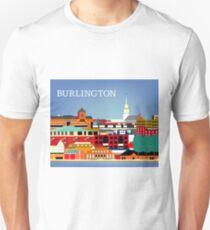 Burlington, Vermont - Skyline Illustration by Loose Petals T-Shirt