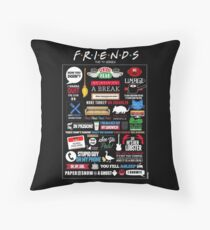 Friends Quotes Throw Pillow