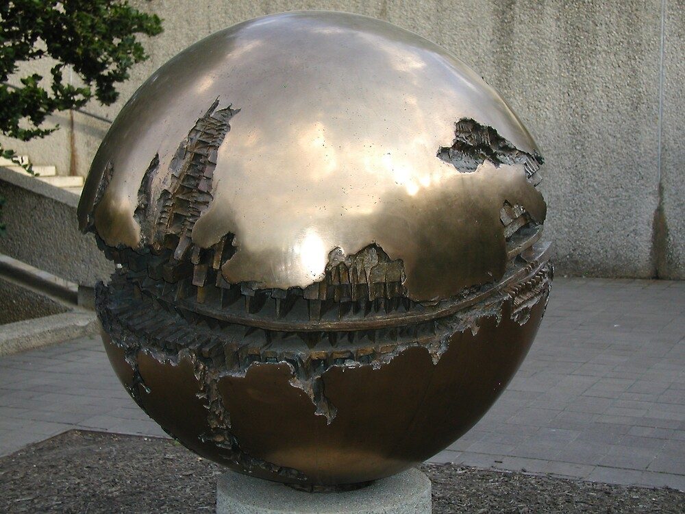 Globe Under Construction by Ronald DeRosa