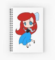 Princess Ariel in Blue Dress (full color) Spiral Notebook