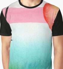 Intuitive Abstract Mix and Match with Bubble Gum Tropics Graphic T-Shirt