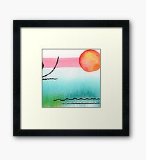 Intuitive Abstract Mix and Match with Bubble Gum Tropics Framed Print