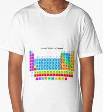 Vibrant HD Periodic Table with 118 Elements Long T-Shirt