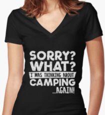 Sorry Camping wieder! Shirt mit V-Ausschnitt
