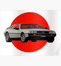 Back to the Future DeLorean Poster