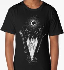 The Forest At Night Long T-Shirt