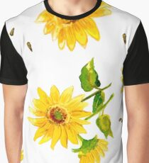 The Composition of Yellow Sunflower   Graphic T-Shirt