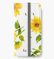 The Composition of Yellow Sunflower   iPhone Wallet/Case/Skin
