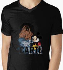 Camiseta para hombre de cuello en v carti playboi