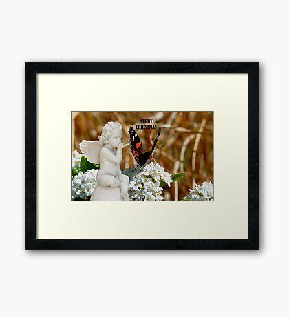 Merry Christmas - Angel & Butterfly - NZ Framed Print