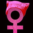 Resist Orange Code Pink Solidarität Kitted Hat von electrovista