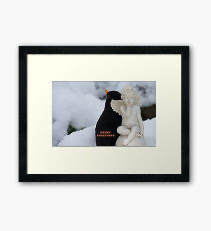 The Angel & The Blackbird! - Merry Christmas Framed Print