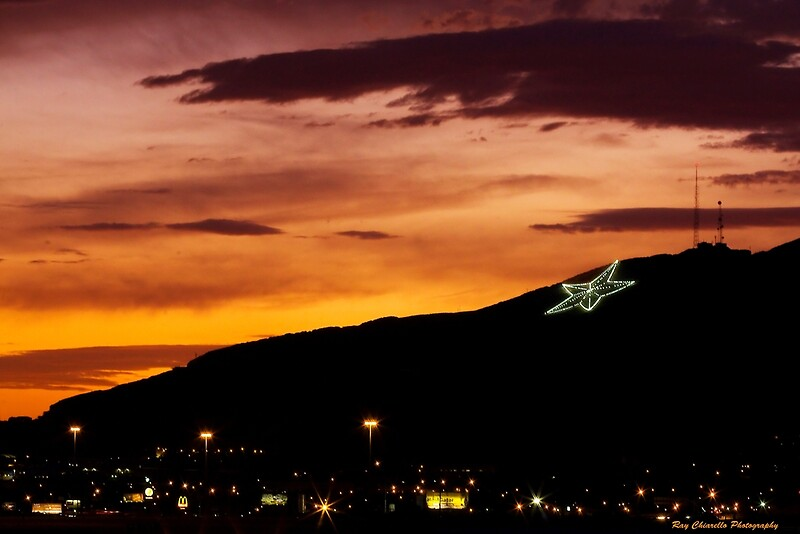 Quot El Paso S Star On The Mountain Quot Photographic Prints By Ray Chiarello Redbubble