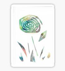 Watercolour paper collage flower Sticker