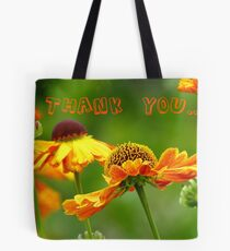 Thank you - Black Eyed Susan - Cone Flower - NZ Tote Bag
