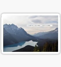 I Touched the Sky - Hillsong United Sticker