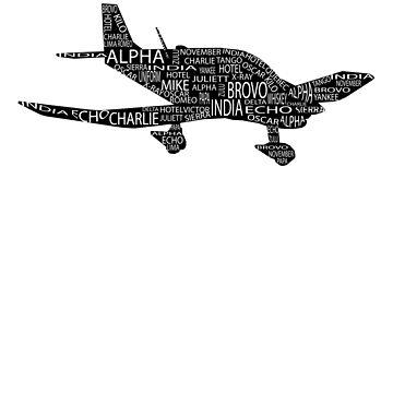 Aviation Phonetic Alphabet Pilot T-Shirt by skyhawktees