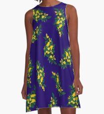 Sweet Carolina Girl - Yellow Jasmine Floral Print A-Line Dress